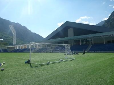 Pitch at the new Estadi Nacional