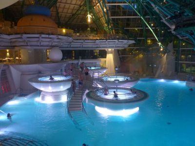 Main swimming pools of Caldea, Andorra