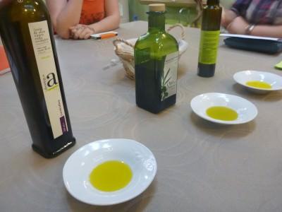 Olive oil tasting in Oli Sal.