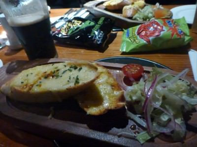 Guinness and cheesey garlic bread starter.