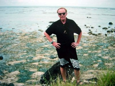 World Travellers: Jean Poulot Doing his Jack Nicholson impersonation, Yap, Federated States of Micronesia