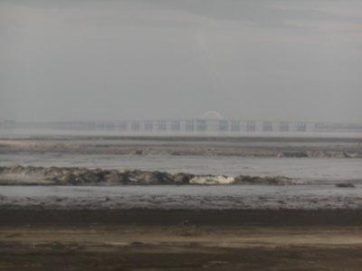 The bridge to Lake Orumiyeh.