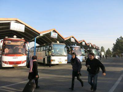 Bus station in Tabriz, Iran.