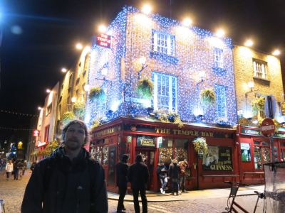 A night out in Temple Bar, Dublin, Republic of Ireland.