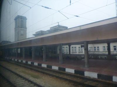 Border train from Romania to Bulgaria.
