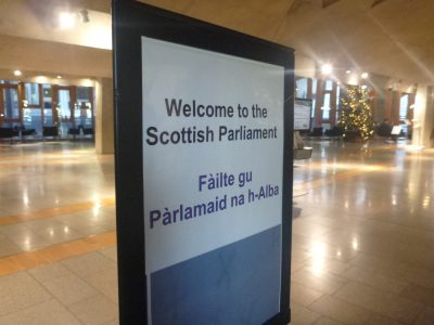 Welcome to the Scottish Parliament.