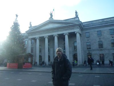 Outside the famous/infamous Post Office on O'Connell Street.
