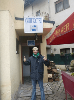 Staying at the City Hostel in Skopje Macedonia.