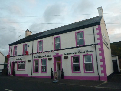 The Fullerton Arms pub in Ballintoy, Northern Ireland.
