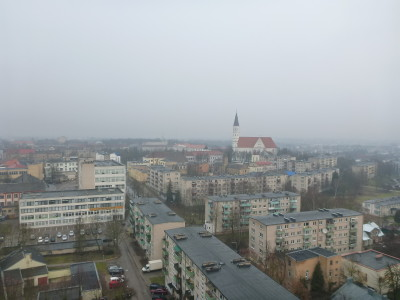 View from my hotel room over dreamy Siauliai.