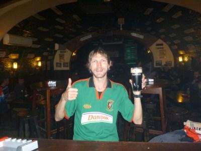 A decent Guinness in Deane's, Brasov, Romania.