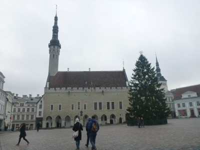 The Town Hall in Raekoja Plats Old Town Square in Tallinn