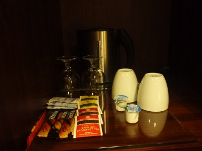 Tea, coffee and kettle