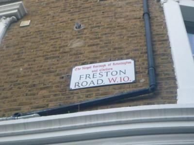Freston Road, where the republic of Frestonia once was.