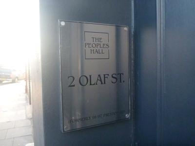 The People's Hall. 2 Olaf Street. Frestonia.