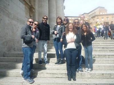 Our tour group for the day we toured the Vatican City State