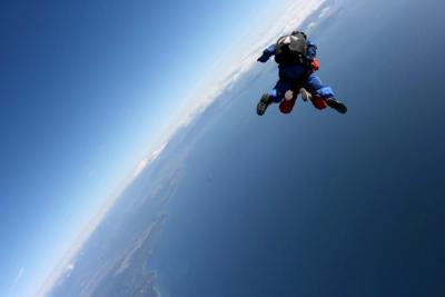 World Travellers: Justin Egli skydiving in New Zealand.