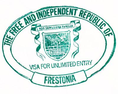 Frestonia Passport Visa Stamp Traveller courtesy of http://www.frestonia.org/