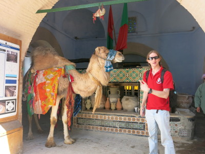 Bir Baroutta and the camel connected to Mecca.