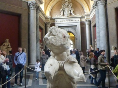 The Belvedere Statue - one of Michaelangelo's favourites.