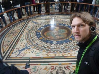 An elaborate floor