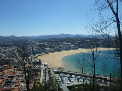 View of Donostia from Mount Urgull