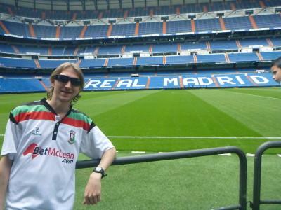 Visiting Estadio Santiago Bernabeau, home of Real Madrid