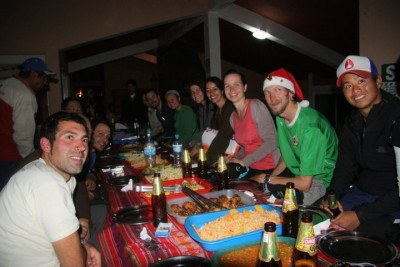 Our Christmas Eve Feast at Winaywayna, PERU
