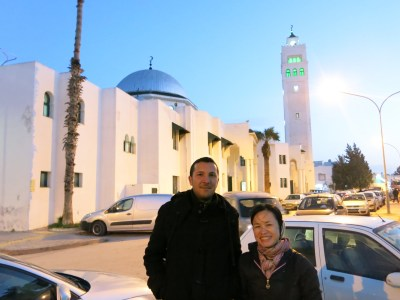 Olympic City Mosque by night - Panny and Ayoub