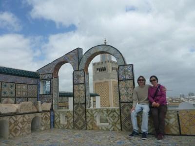 Relaxing overlooking the Zaytouna Mosque in Tunisia's capital city