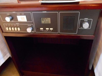 Bedside radio in the room