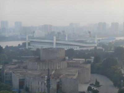 The football stadium on Yanggak Island