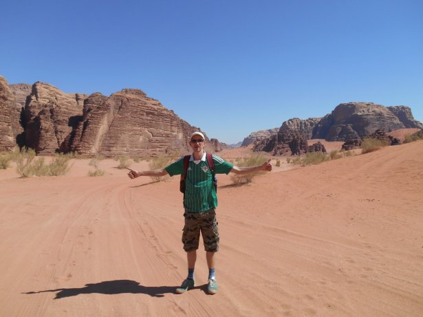 The author of this site backpacking in Wadi Rum, Jordan