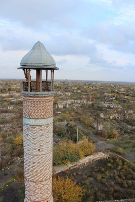 The view from the top of Agdam Mosque
