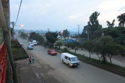 View from the balcony over Tanzania Street