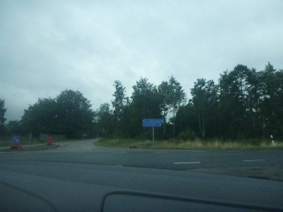 Driving to Ladonia from Sweden