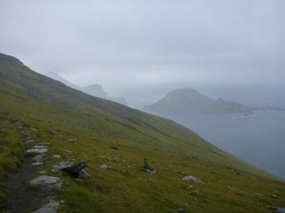 Towards the peak of Rogvukollur