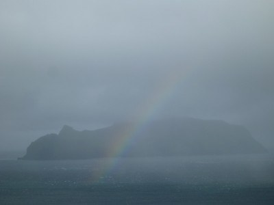 A rainbow on arrival in Gasadalur.