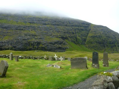 Cemetery at Saksun Church