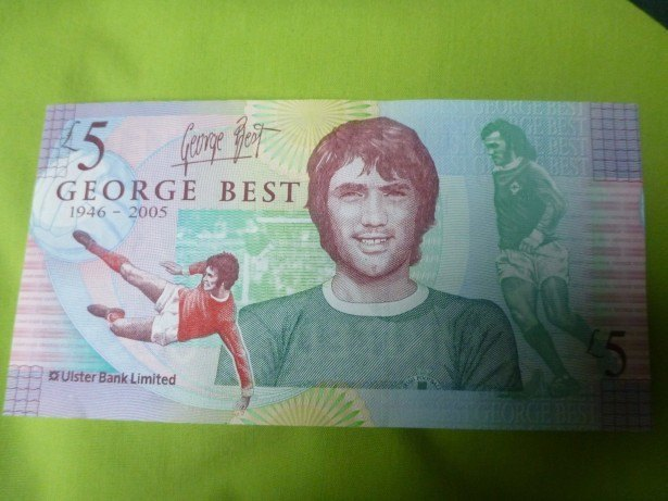 The George Best £5 note can be used in Northern Ireland
