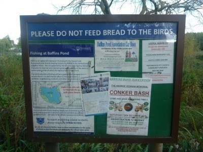 Wildlife information at Baffins Pond
