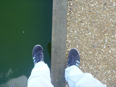 The actual border between England and the Grand Duchy of the Lagoan Isles at Baffin's Pond