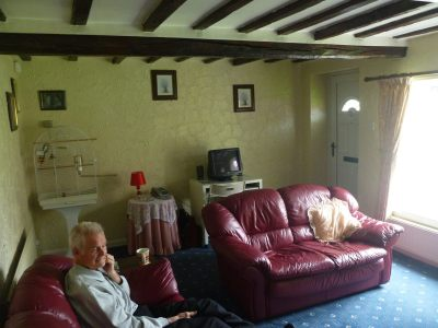 The country's oldest politician Sir Reginald Hall relaxes in Tytannia