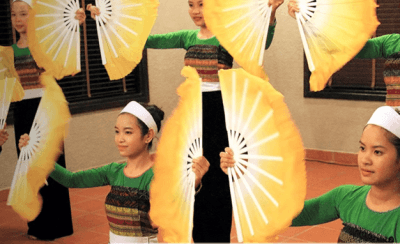 Dancing at Mai Chau Ecolodge