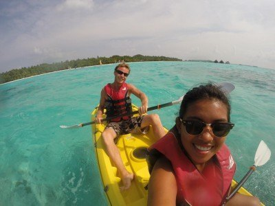 ​World Travellers: Kach and Jonathan, Two Monkeys Travel kayaking