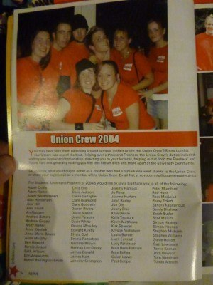 Working as part of the Union Crew in 2004
