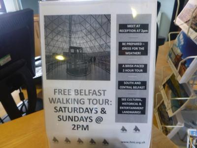 Free walking tour of Belfast City