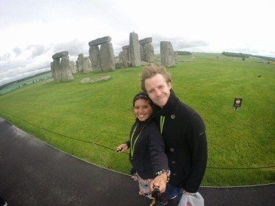 ​World Travellers: Kach and Jonathan, Two Monkeys Travel at Stonehenge in England
