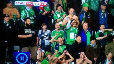 Caught on camera at the football stadium during Northern Ireland's 3-1 win
