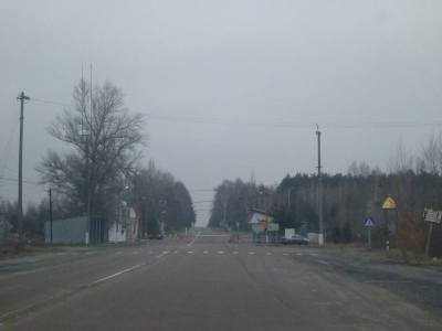 """Arrival at Dityatki Checkpoint, where """"normal Ukraine"""" ends and the Chernobyl Exclusion Zone begins."""